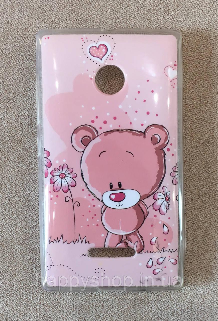 Силиконовый чехол для Nokia Lumia 435/532 (Bear)