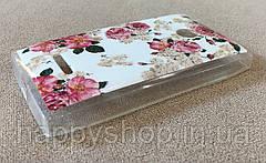 Силиконовый чехол для Nokia Lumia 435/532 (Flowers), фото 3