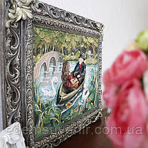 Панно Пара влюбленных в лодке цветное, фото 2