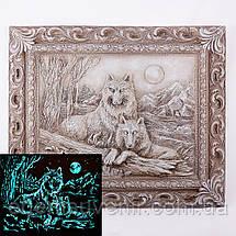 Панно Пара волков светящееся, фото 2