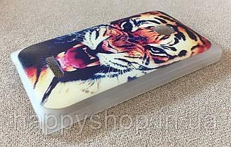 Пластиковый чехол для Nokia Lumia 435/532 (Tiger), фото 3