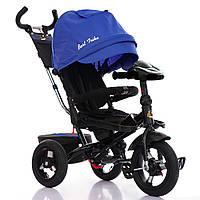 Детский трехколесный велосипед  Best Trike 6088, поворотное сиденье. Синий