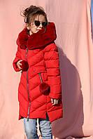Детская зимняя куртка для девочек (рост 110-158)