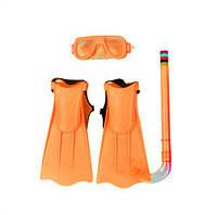 Набор для плавания (оранжевый) 3402