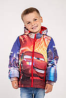 """Куртка для мальчиков с принтом """"Тачки 3"""", р 128"""
