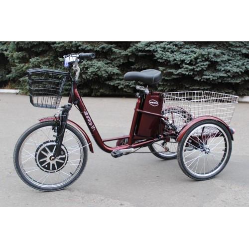 Триколісний електровелосипед для поїздок всієї сім'ї, а так само перевезення вантажів Vega Happy 36V 350Watt