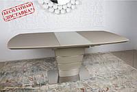 Обеденный стол ATLANTA (Атланта) 140/180х90 стекло мокко Nicolas (бесплатная адресная доставка)