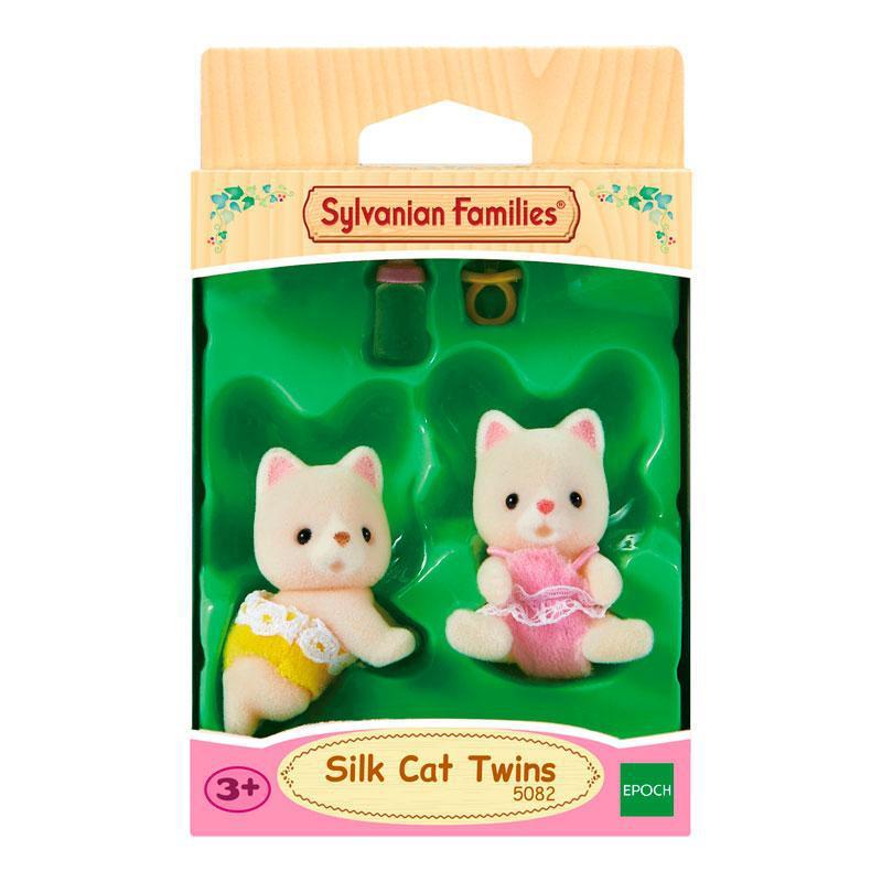 Игровой набор Sylvanian Families Набор Шелковые Коты-двойняшки