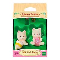 Игровой набор Sylvanian Families Набор Шелковые Коты-двойняшки, фото 1