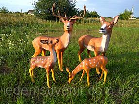 Садовая фигура Семья оленей, фото 2