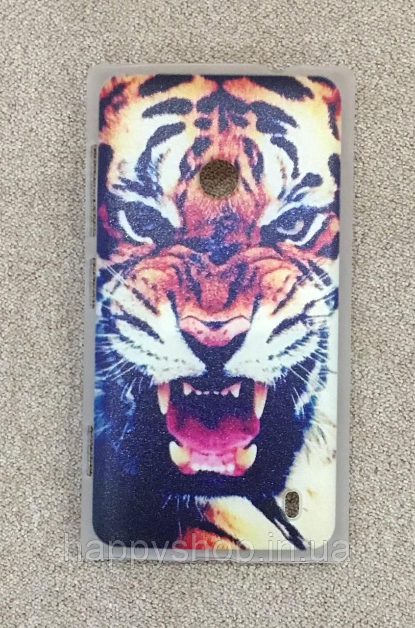 Пластиковый чехол для Nokia Lumia 525 (Tiger)