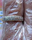Обручку з ФІАНІТАМИ 1.95 грама 17.5 мм. ЗОЛОТО 585 проби, фото 6