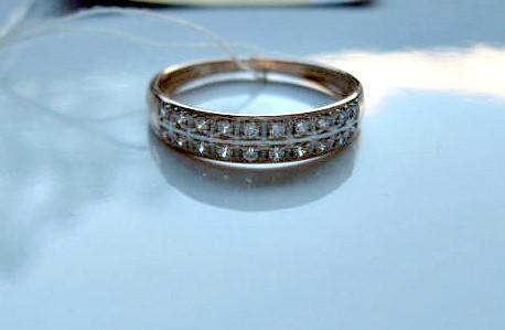 Обручальное Кольцо с ФИАНИТАМИ  1.95 грамма 17.5 мм. ЗОЛОТО 585 пробы