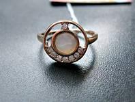 Золотое кольцо с ПЕРЛАМУТРОМ 2.31 грамма 16.5 размер ЗОЛОТО 585 пробы, фото 1