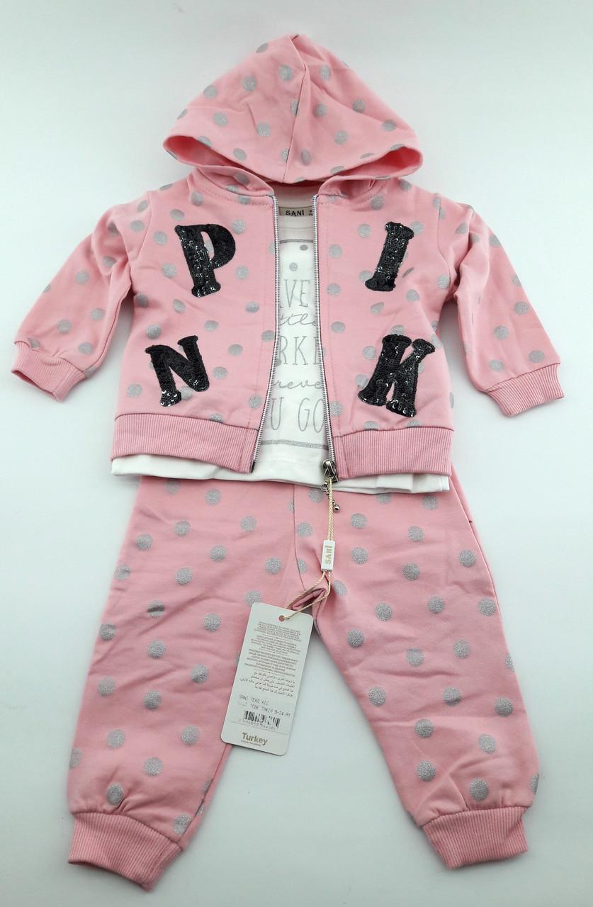 216728f08c32a Детский костюмчик тройка для девочки 9 12 18 24 месяцев (кдн6460) - Всегда  что