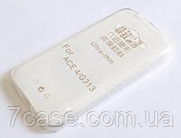 Чехол для Samsung Galaxy Ace 4 G313 силиконовый ультратонкий прозрачный