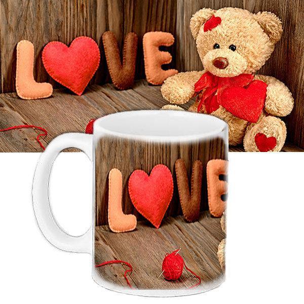 Милая чашка с принтом Любовь (33146)