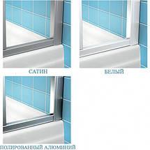 Душові двері 130см. RAVAK 10DP4-130 профіль сатин прозоре скло, фото 2