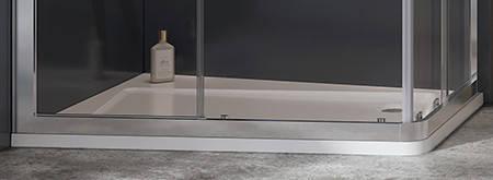 Душові двері 110см. RAVAK 10DP2-110 профіль білий прозоре скло, фото 2
