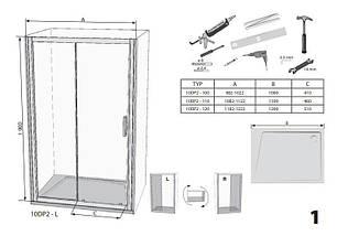Душові двері 110см. RAVAK 10DP2-110 профіль білий прозоре скло, фото 3