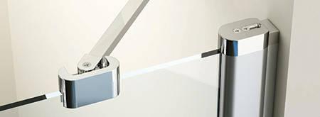 Душові двері 100см. RAVAK CSD2-100  профіль білий прозоре скло, фото 2