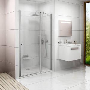Душові двері 110см. RAVAK CSD2-110  профіль білий прозоре скло