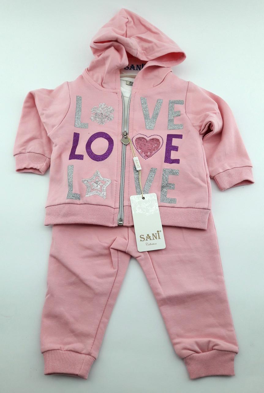b62b8d2e3ba77 Детский костюмчик тройка для девочки 12 18 24 месяцев (кдн6463 ...