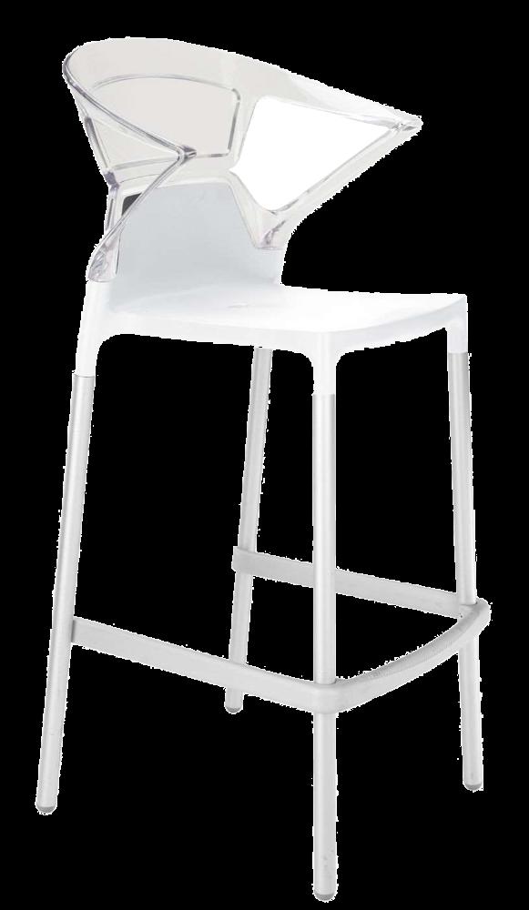 Барне крісло Papatya Ego-K біле сидіння, верх прозоро-чистий