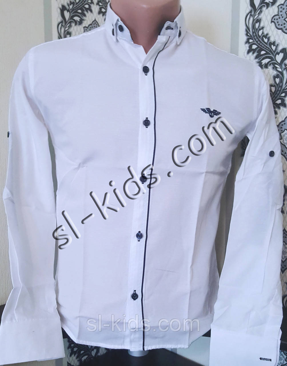 Стильна сорочка для хлопчика 134-158 см (опт) (біла 04) (пр. Туреччина)