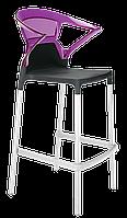 Барне крісло Papatya Ego-K чорне сидіння, верх прозоро-пурпурний, фото 1
