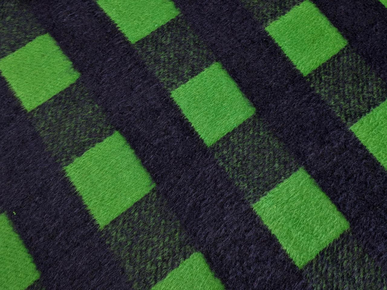 Жаккард пальтовый клетка, зеленый