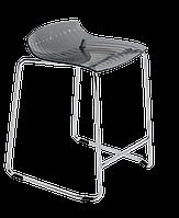 Барное кресло Papatya X-Treme Sled прозрачно-дымчатый