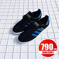 Мужские кроссовки Adidas Spezial Black blue 8fcf2a49a126e