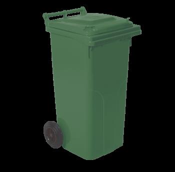 Бак для мусора на колесах с ручкой 120 л Aleana Зеленый
