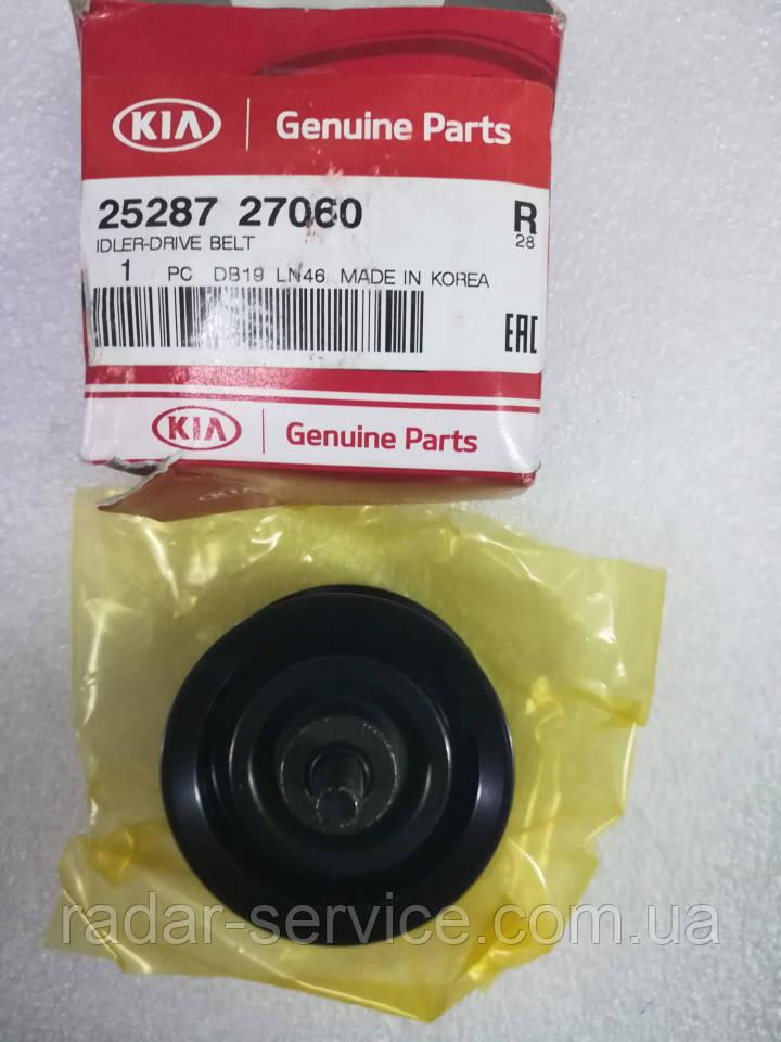 Обвідний Ролик ременя генератора середній нижній, KIA Sportage 2010-15 SL, 2528727060