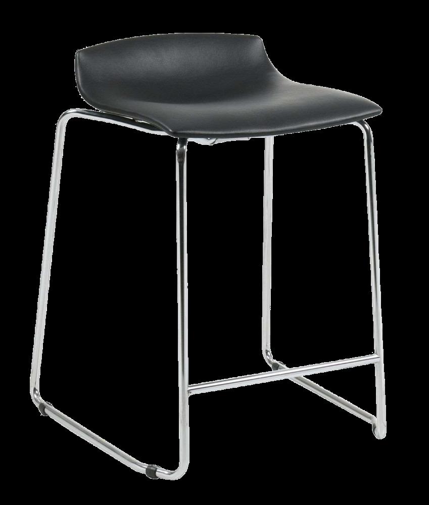 Барное кресло Papatya X-Treme Sled черный