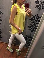 """Блуза """"Рюши"""" женская в расцветках 25038"""