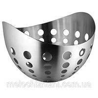 Корзина нержавеющая овальная для фруктов и хлеба 230*230*160 мм (шт)