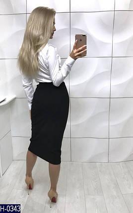 Женская белая блузка с рюшами, фото 2