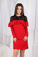 Платье с гипюром в расцветках 2126, фото 1