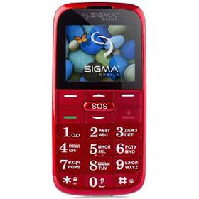 Кнопочный мобильный телефон Sigma mobile Comfort 50 Slim 2 red (1000 mA)