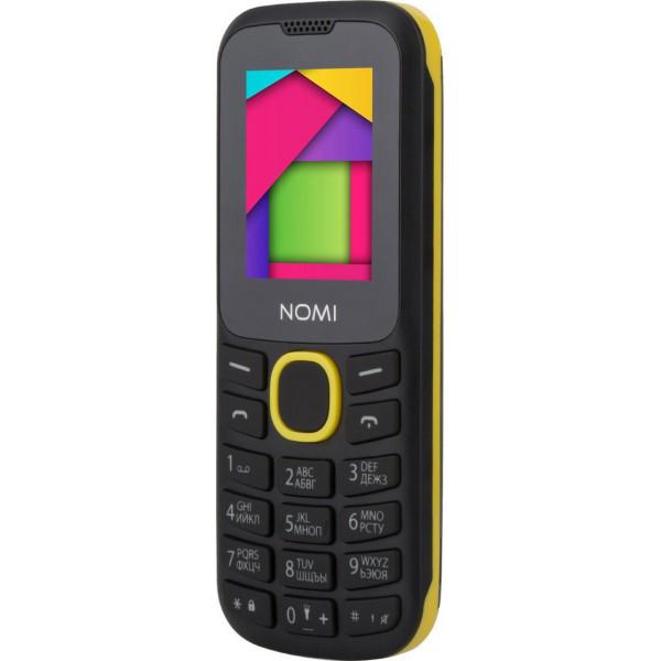 Кнопочный мобильный телефон Nomi i184 Black-Yellow