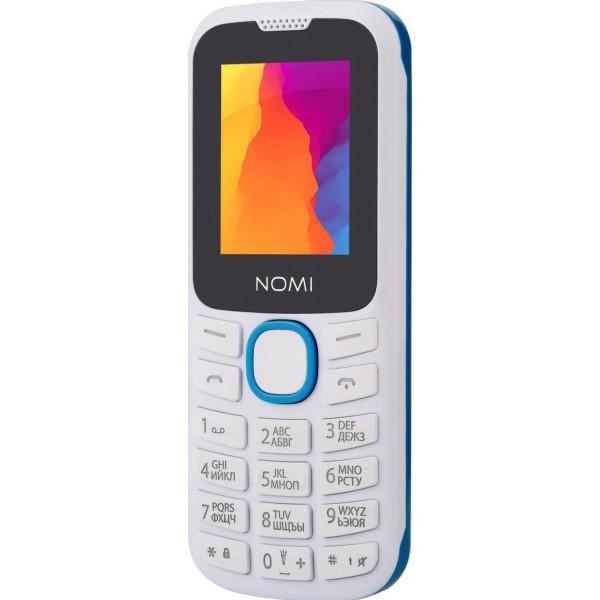Кнопочный мобильный телефон Nomi i184 White-Blue