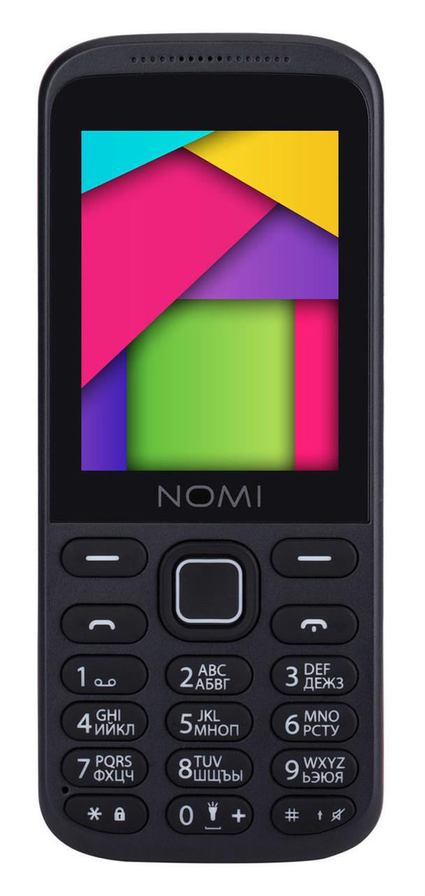 Кнопочный мобильный телефон Nomi i244 black-red