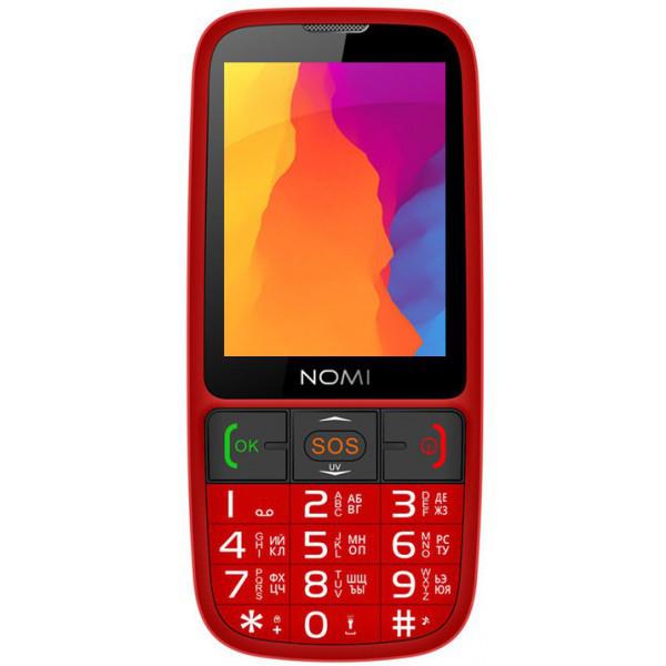 Кнопочный мобильный телефон NOMI i281 Red