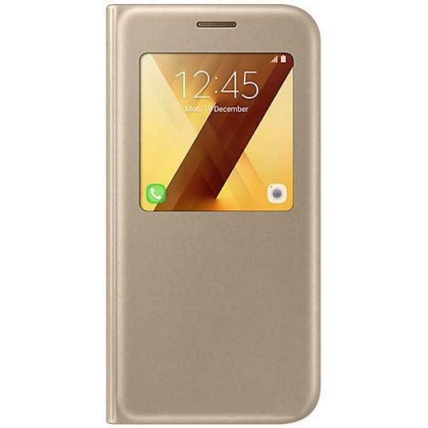 Чехол-книжка Samsung S View Standing Cover для Samsung Galaxy A7 2017 A720 Gold