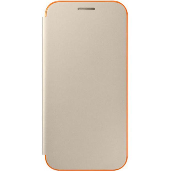 Чехол Samsung Neon Flip Cover EF-FA320PFEGRU Gold для Galaxy A3 (2017)