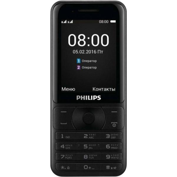 Кнопочный мобильный телефон Philips E181 Xenium  Black