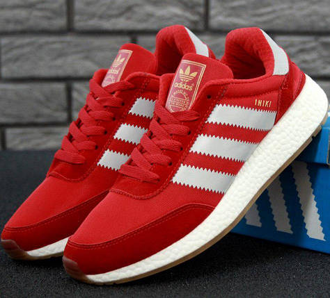 Мужские кроссовки Adidas Iniki Runner Boost Red, фото 2