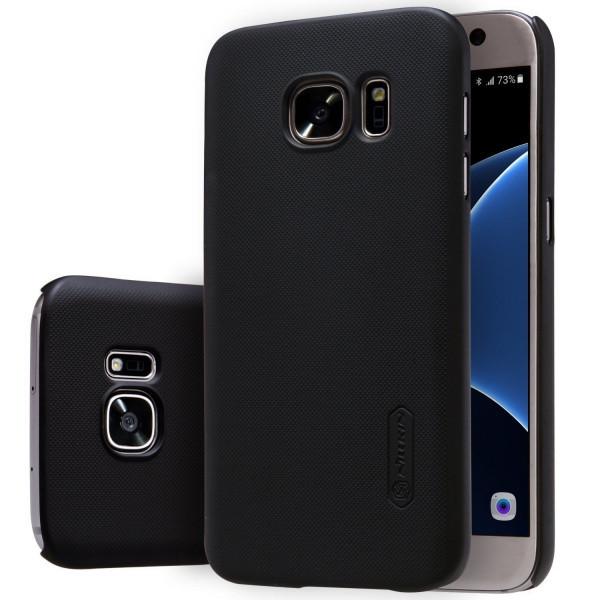 Пластиковый чехол-накладка Nillkin Samsung A520 Galaxy A5 (2017) (+ пленка) (Черный)